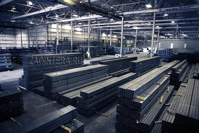 Склад продукции из стали